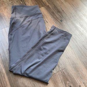 Old Navy Active Leggings, Grey, Mesh Stripe